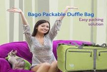 Bago folded bags / pack in style and stored separately, unfold when needed.