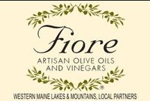 FIORE Western Maine Lakes & Mountains Partners / FIORE Local Partners in the Western Maine Lakes & Mountains area. FIORE Artisan Olive Oils & Vinegars has chosen to partner with these select local fine restaurants and lodging establishments.