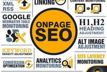 SEO Infographics / Infographics about the application of SEO techniques to websites.