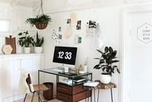 Home Office Inspiration / Home office style inspiration | white + minimal + apartment + office space