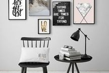 Gallery Wall Inspiration / Gallery wall style inspiration | picture frame + art + home decoration inspiration