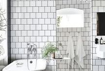 Bathroom Inspiration / Bathroom + washroom inspiration | powder room ideas + shower inspo + bath inspiration