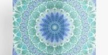 New Work In the Spotlight / Mandalas, patterns, and fractal art on products of all kinds for dorm and home inspiration.