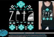"Zeta Tau Alpha / ""Seek the noblest.""  Zeta Tau Alpha Spirit Jerseys, bid day sweatshirts, recruitment shirts, screenprinting ideas, ZTA Pocket Tanks, custom greek apparel for Zeta, and so much more!  http://www.explosionsportswear.com/artwork.php?searchHouses=78"
