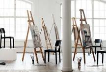 Art space and storage / Art studio, galleries, storage / by Leslie Goh