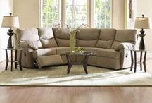 Reclining in Comfort / A wide variety of sectionals, sofas and chairs that recline to provide high comfort.