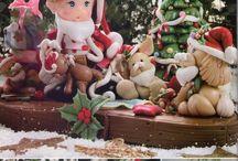 Polymerclay/Christmas/Fimo/Cold Porcelain/Fondant/Gum Paste/Porcelana Fría/Natal/Pasta Francesa/Navidad/Masa Flexible :B