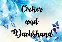 Cocker and Dachshund / Minhas raças preferidas, já tive cães das duas raças e são muito dóceis e amorosos. Meus sonhos.