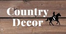 Country Decor / Rustic country decor & barn inspired decorations for the homestead.