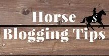 Horse Blogging Tips / Helpful tips and strategies for horse & equestrian bloggers.