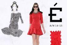Éthologie | A/W 14-15 SKETCHBOOK / Original sketches by designer Jasper Garvida paired with the final look on the catwalk.