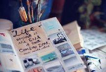 Scrapbook and sketchbooks