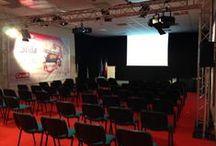 Convention Caruelle - Seguip / Présentation des nouveautés au réseau et de la nouvelle stratégie de distribution. Aménagement de l'espace de projection et de l'espace réceptif. 340 invités sur 5 jours.