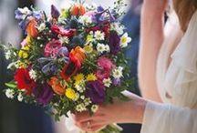 Meadow wedding / meadow bohemian rustic nature wedding