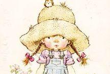 Holly Hobbie, Miss Petticoat & Sarah Kay...Illustration