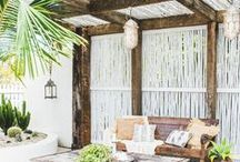 Tropical Outdoor Space / Patio, Beachfront, Outdoor Space, Tropical Paradise Decor & Inspiration