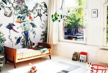 Tropical Nursery / The baby's room doesn't have to be boring. Add a touch of tropical to it.