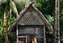 Tropical Huts / Living amongst nature inspiration.