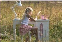 Kindertafels stoeltjes en bureaus landelijke stijl / Childrens furniture / Kindertafels speeltafels landelijke stijl Children's chairs tables bureaus shabby country style handmade
