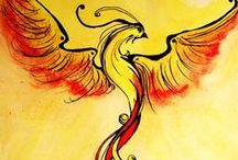 Phoenix Bird / Phoenix bird represents rebirth. It's a bird special and I adore her story and legend. I hope you enjoy it!