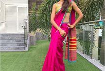 Shilpa Reddy pink saree