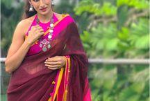 Handloom linen saree shilpa Reddy