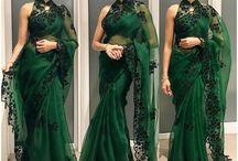 Green organza sari shilpa reddy