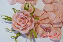 Цветы из лент, бумаги, фоамирана... / о цветах из  различных материалв