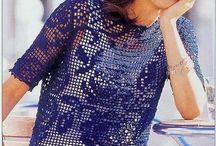 Crochet blusas, top's, chalecos, abrigos, sweater's damas / Prendas de damas / by Ma Antonieta Padron