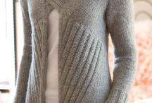 Tejido agujas para damas y sres / Blusas, sweaters, vestidos  / by Ma Antonieta Padron