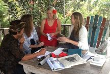 Write a Bestseller Retreats at Sharing Bali / Writing in simple luxury with agent Jacq Burns at Sharing Bali near Ubud. Looking forward to next one April 2015.