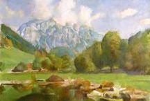 Permay Vilmos grafikái és festményei / Az idős mester több évtizedes könyvgrafikusi munka után tért vissza a festészethez.