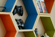 Gaming shelf / Very cool for games and other necessary stuff