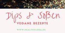 Dips & Soßen || vegan / Diese leckeren Rezepte für Dips und Soßen überzeugen garantiert jeden! Sie sind vegan, schnell gemacht und brauchen nur wenige Zutaten!