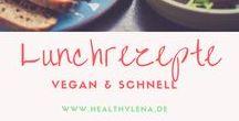 Schnelle Lunchrezepte - einfach & lecker - vegan / Schnelle Lunchrezepte - einfach & lecker vegan kochen und backen. Die perfekte Mittagspause! #lunch #rezepte #vegan #gesund #lecker