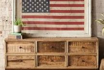 american spirit / Design ideas for the 4th of July, or to bring a taste of classic Americana to your home.