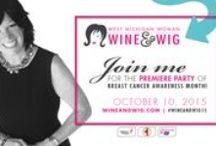 Wine & Wig / www.wineandwig.com Wine & Wig is a whimsical fundraiser for women's breast cancer health. We wear wigs as a sign of solidarity with those going through cadaver treatment that causes hair loss. This is the premier party of #breastcancerawareness month in Grand Rapids on October 10, 2015. Our charity partners are Komen Michigan, Gilda's Club Grand Rapids, and the American Cancer Society.