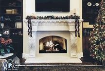 A Winter Wonderland / Beautiful Ideas for Mantel Decorations during the Holiday Season.