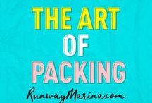 The Art of Packing / Here you can find the list of trusted travel tips, guide and advice to pack your bag smart! Backpacking or in Luggage! Board of Pins about the art of packing. Travel | Packing | Hacks | Pack | Art | Female | Fashion | Style | Travelling | Traveller | Backpackers