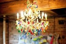 Ceilings & Chandeliers / lovely art work