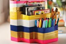 Duct Tape / There are endless ways to use duct tape. It's a fun way to truly make something your own. Have fun with it!