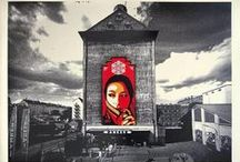 Shepard Fairey /  A major artist of the street art movement, Fairey rose to prominence in the early 1990s through the dispersion of posters, stickers, and murals, related to his Obey Giant campaign, which yielded an international cultural phenomenon. Fairey's iconic poster of President Barack Obama was adopted as the official emblem associated with the presidential campaign and encapsulates a number of recurring concerns in the artist's work, including propaganda, portraiture, and political power. / by Upper Playground