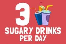 3 sugary drinks per day are equal to… / < ------------------------- Take a look at the pins below to find out! ------------------------- > Sugar Lowdown will look its best if you resize your browser to show 4 columns of pins.