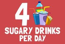 4 sugary drinks per day are equal to… / < ------------------------- Take a look at the pins below to find out! ------------------------- > Sugar Lowdown will look its best if you resize your browser to show 4 columns of pins.