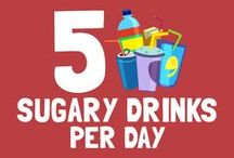5 sugary drinks per day are equal to… / < ------------------------- Take a look at the pins below to find out! ------------------------- > Sugar Lowdown will look its best if you resize your browser to show 4 columns of pins.