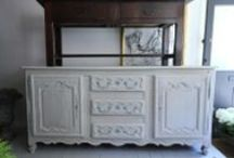 Enfilades / Enfilades, sideboards, buffets, all French and probably painted