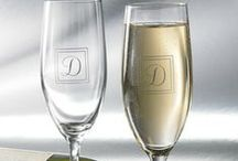 Personalized Glass & Bar-ware. / Personalized toasting glasses, rock glasses, wine glasses....personalized wine opener, bottle openers ect.