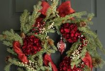 Christmas Holiday Wreaths / Wreaths for the Holidays - Christmas decorations - Thanksgiving decor - Door Wreaths