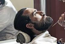 Male Grooming / The act of preparing oneself, this can include: shaving, showering, hair work, facial care etc.