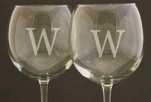 Personalized Wine Glasses / personalized wine glasses great for weddings, birthdays, christmas